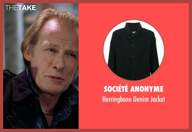 Société Anonyme black jacket from Love Actually seen with Bill Nighy (Billy Mack)