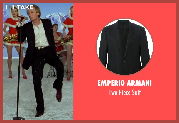 Emperio Armani black suit from Love Actually seen with Bill Nighy (Billy Mack)