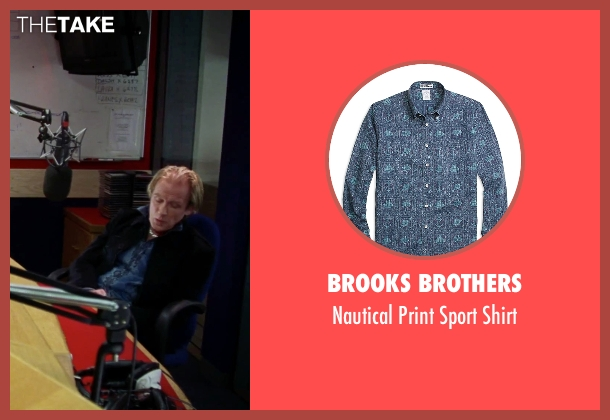 Brooks Brothers blue shirt from Love Actually seen with Bill Nighy (Billy Mack)