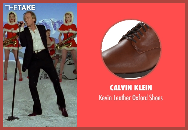 Calvin Klein brown shoes from Love Actually seen with Bill Nighy (Billy Mack)