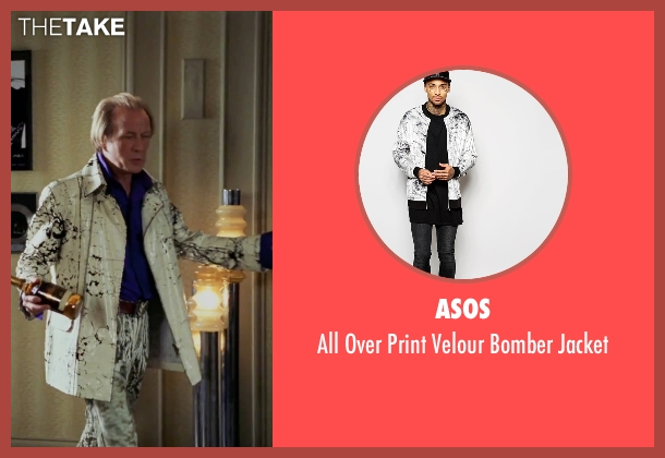 Asos white jacket from Love Actually seen with Bill Nighy (Billy Mack)