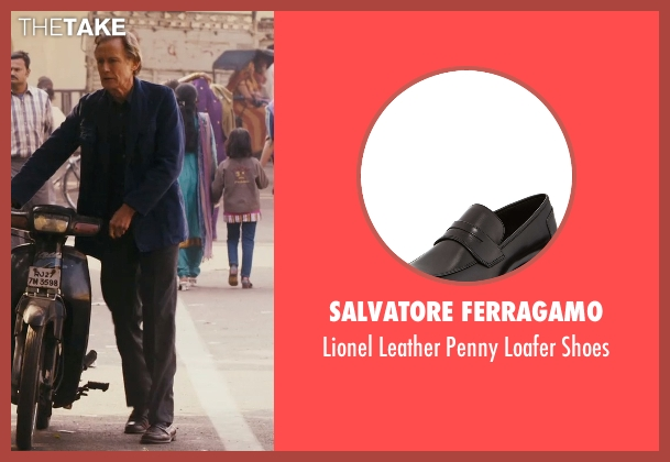 Salvatore Ferragamo black shoes from The Second Best Exotic Marigold Hotel seen with Bill Nighy (Douglas Ainslie)