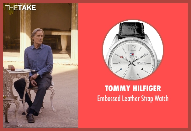 Tommy Hilfiger black watch from The Second Best Exotic Marigold Hotel seen with Bill Nighy (Douglas Ainslie)