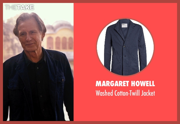 Margaret Howell blue jacket from The Second Best Exotic Marigold Hotel seen with Bill Nighy (Douglas Ainslie)