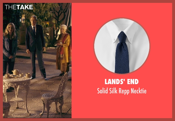 Lands' End blue necktie from The Second Best Exotic Marigold Hotel seen with Bill Nighy (Douglas Ainslie)