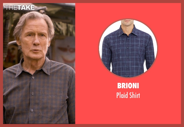 Brioni blue shirt from The Second Best Exotic Marigold Hotel seen with Bill Nighy (Douglas Ainslie)