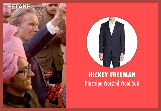 Hickey Freeman blue suit from The Second Best Exotic Marigold Hotel seen with Bill Nighy (Douglas Ainslie)