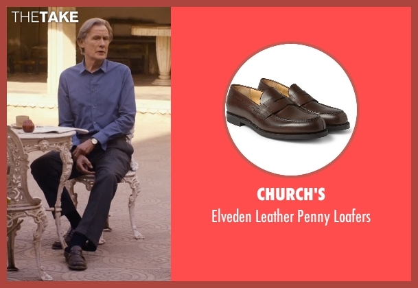 Church's brown loafers from The Second Best Exotic Marigold Hotel seen with Bill Nighy (Douglas Ainslie)