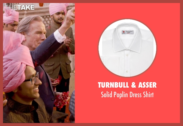 Turnbull & Asser white shirt from The Second Best Exotic Marigold Hotel seen with Bill Nighy (Douglas Ainslie)