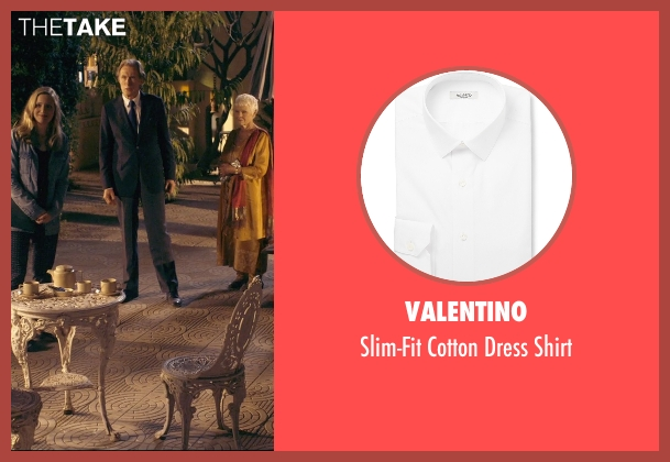 Valentino white shirt from The Second Best Exotic Marigold Hotel seen with Bill Nighy (Douglas Ainslie)