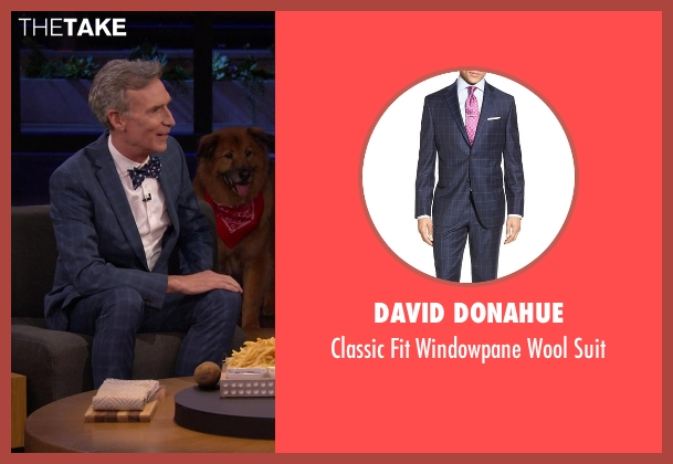 David Donahue blue suit from Chelsea seen with Bill Nye