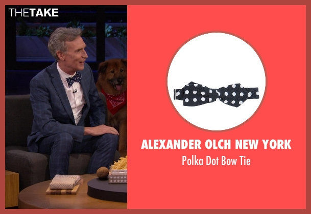 Alexander Olch New York blue tie from Chelsea seen with Bill Nye