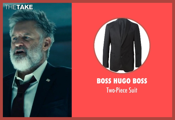 Boss Hugo Boss black suit from Independence Day: Resurgence seen with Bill Pullman (President Whitmore)