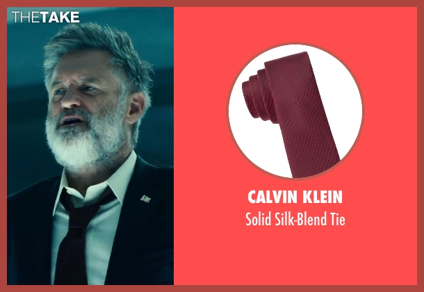 Calvin Klein red tie from Independence Day: Resurgence seen with Bill Pullman (President Whitmore)