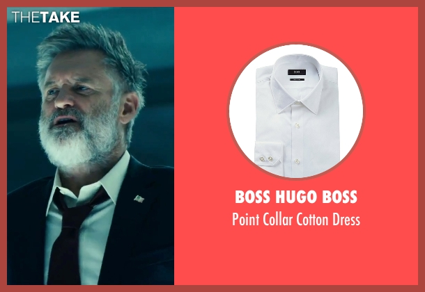 Boss Hugo Boss white dress from Independence Day: Resurgence seen with Bill Pullman (President Whitmore)