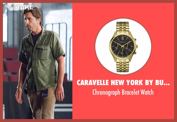 Caravelle New York by Bulova gold watch from Roadies seen with Bill (Luke Wilson)