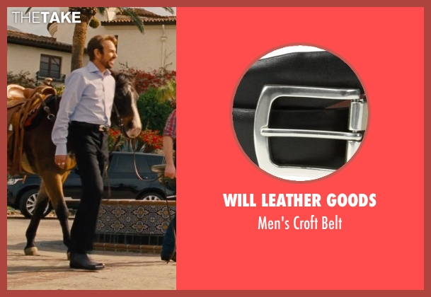 Will Leather Goods black belt from Entourage seen with Billy Bob Thornton (Financier)