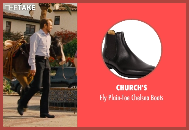 Church's black boots from Entourage seen with Billy Bob Thornton (Financier)