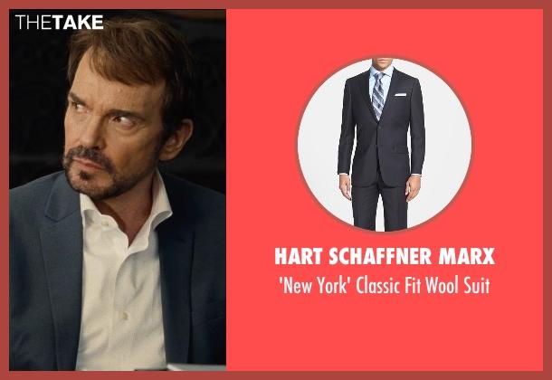 Hart Schaffner Marx black suit from Entourage seen with Billy Bob Thornton (Financier)