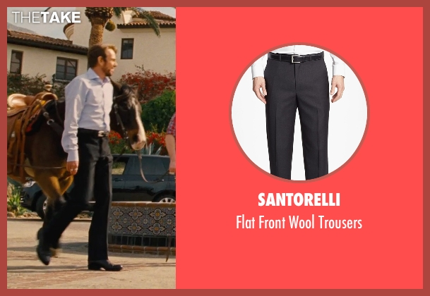 Santorelli black trousers from Entourage seen with Billy Bob Thornton (Financier)