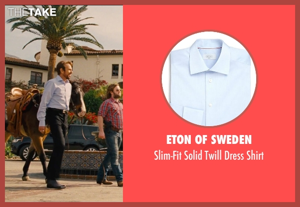 Eton of Sweden blue shirt from Entourage seen with Billy Bob Thornton (Financier)