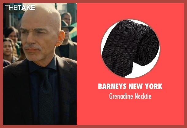 Barneys New York black necktie from Our Brand Is Crisis seen with Billy Bob Thornton (Pat Candy)
