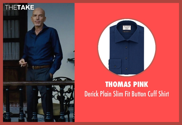 Thomas Pink blue shirt from Our Brand Is Crisis seen with Billy Bob Thornton (Pat Candy)
