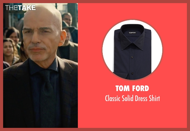 Tom Ford	 blue shirt from Our Brand Is Crisis seen with Billy Bob Thornton (Pat Candy)