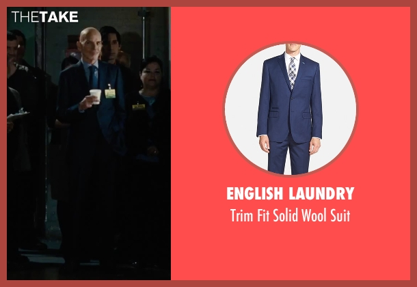 English Laundry blue suit from Our Brand Is Crisis seen with Billy Bob Thornton (Pat Candy)