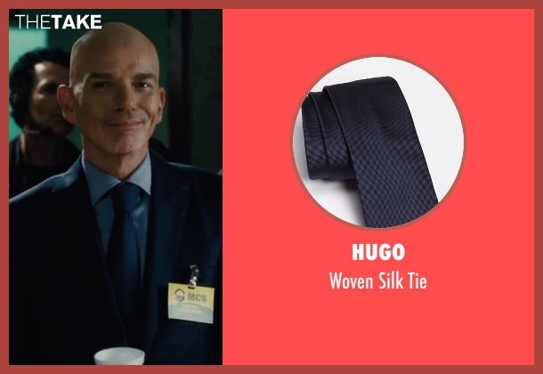 Hugo blue tie from Our Brand Is Crisis seen with Billy Bob Thornton (Pat Candy)