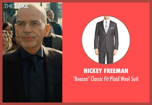 Hickey Freeman gray suit from Our Brand Is Crisis seen with Billy Bob Thornton (Pat Candy)