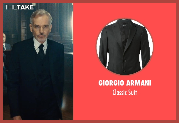 Giorgio Armani black suit from The Judge seen with Billy Bob Thornton (Dwight Dickham)