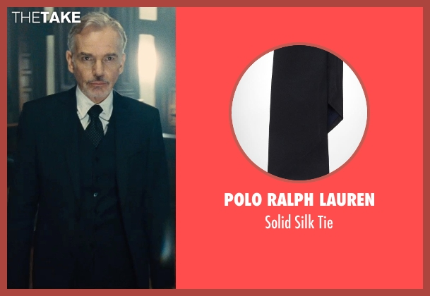 Polo Ralph Lauren black tie from The Judge seen with Billy Bob Thornton (Dwight Dickham)