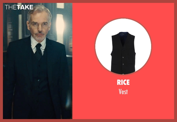 Rice black vest from The Judge seen with Billy Bob Thornton (Dwight Dickham)