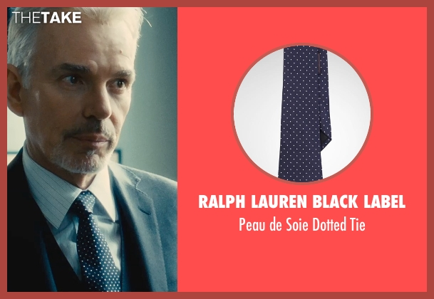 Ralph Lauren Black Label blue tie from The Judge seen with Billy Bob Thornton (Dwight Dickham)