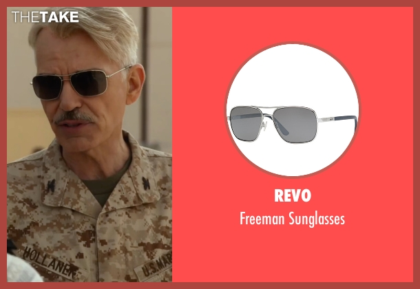 Revo black sunglasses from Whiskey Tango Foxtrot seen with Billy Bob Thornton (Hollanek)