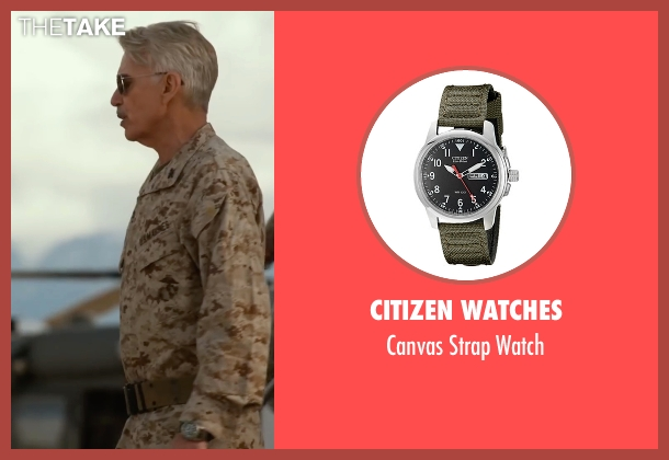 Citizen Watches green watch from Whiskey Tango Foxtrot seen with Billy Bob Thornton (Hollanek)