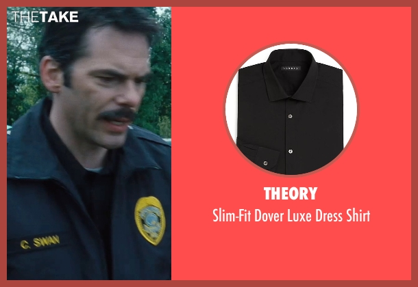 Theory black shirt from Twilight seen with Billy Burke (Charlie Swan)
