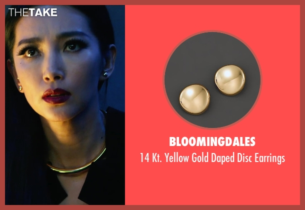 bloomingdales gold earrings from Transformers: Age of Extinction seen with Bingbing Li (Su Yueming)