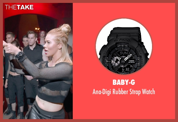 Baby-G black watch from Pitch Perfect 2 seen with Birgitte Hjort Sørensen (Unknown Character)