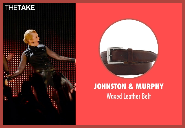 Johnston & Murphy brown belt from Pitch Perfect 2 seen with Birgitte Hjort Sørensen (Unknown Character)