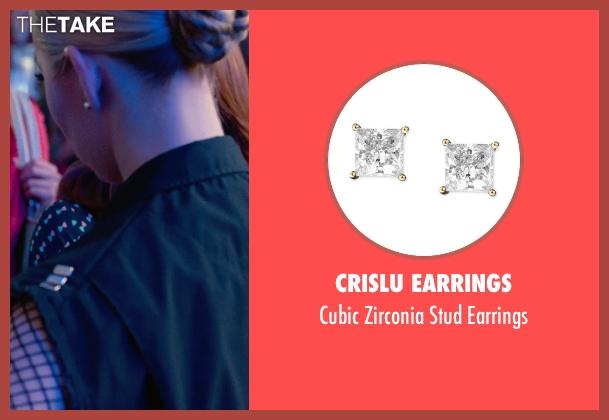CRISLU Earrings silver earrings from Pitch Perfect 2 seen with Birgitte Hjort Sørensen (Unknown Character)