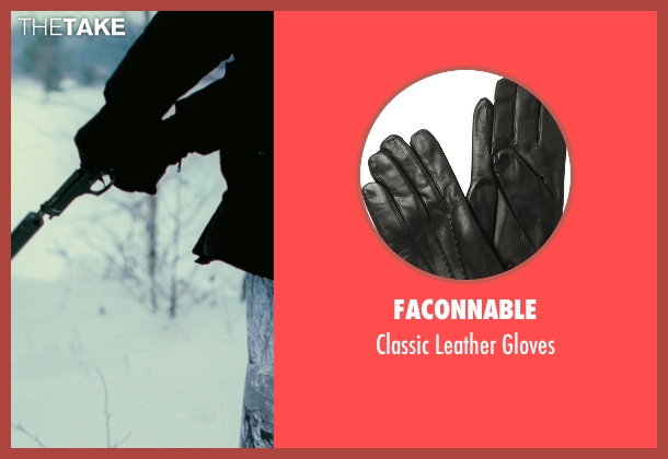 Faconnable black gloves from The American seen with Björn Granath (Hunter #2)