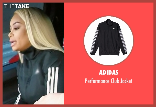 Adidas black jacket from Rob & Chyna seen with Blac Chyna