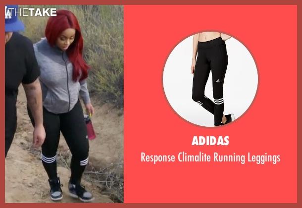 Adidas black leggings from Rob & Chyna seen with Blac Chyna