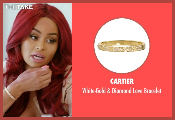 Cartier gold bracelet from Rob & Chyna seen with Blac Chyna