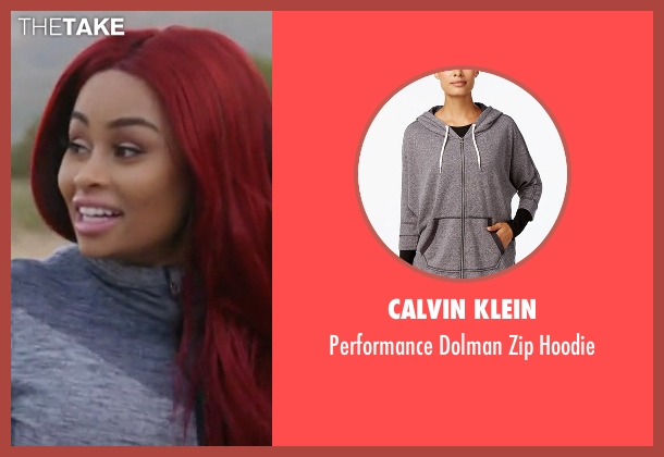 Calvin Klein gray hoodie from Rob & Chyna seen with Blac Chyna