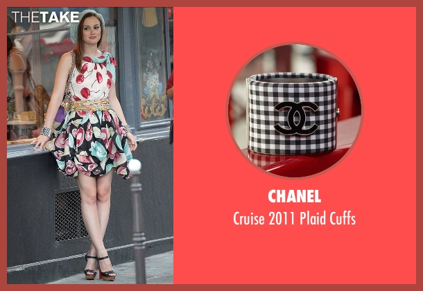 Chanel black cuffs from Gossip Girl seen with Blair Waldorf (Leighton Meester)