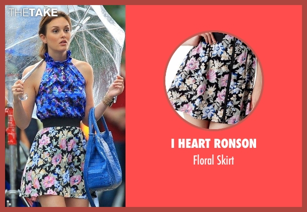 I Heart Ronson black skirt from Gossip Girl seen with Blair Waldorf (Leighton Meester)
