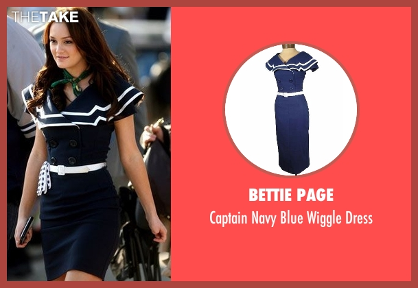 Bettie Page blue dress from Gossip Girl seen with Blair Waldorf (Leighton Meester)